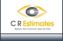 C R Estimates Logo Design